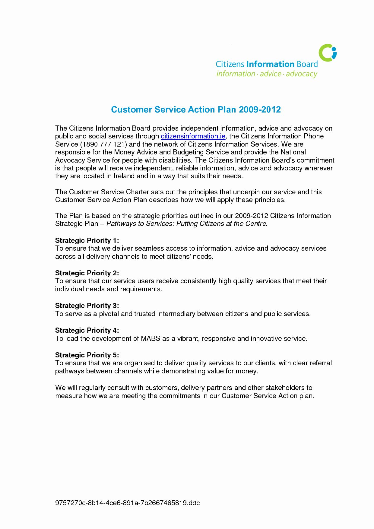 Customer Service Action Plan Examples New Best S Of