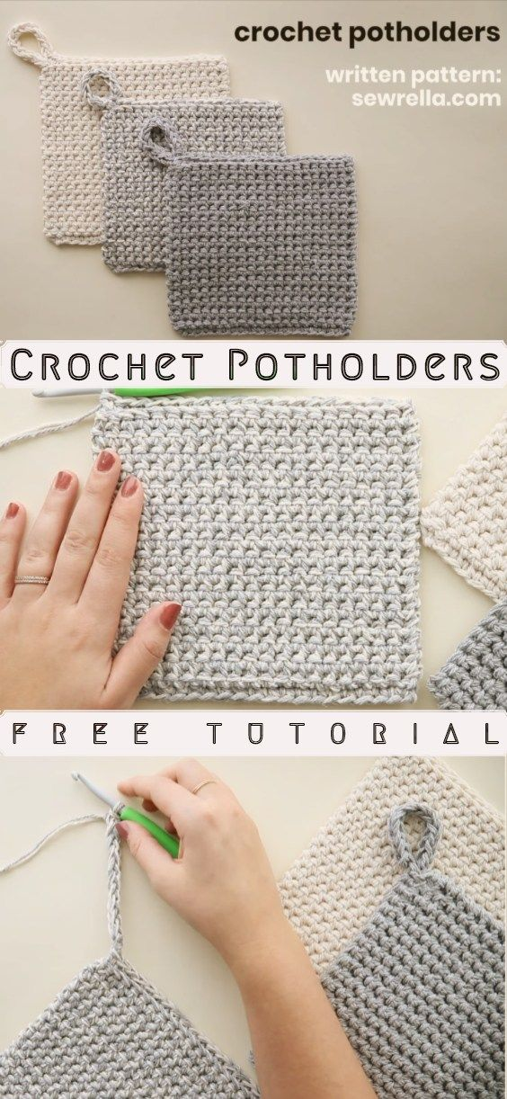 How to Crochet Potholders  #crochetpotholderpatterns