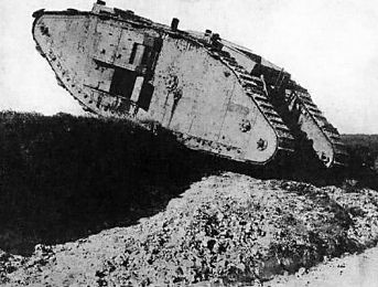 British Mark IV tank crossing a trench | Ww1 animation resoucres ...