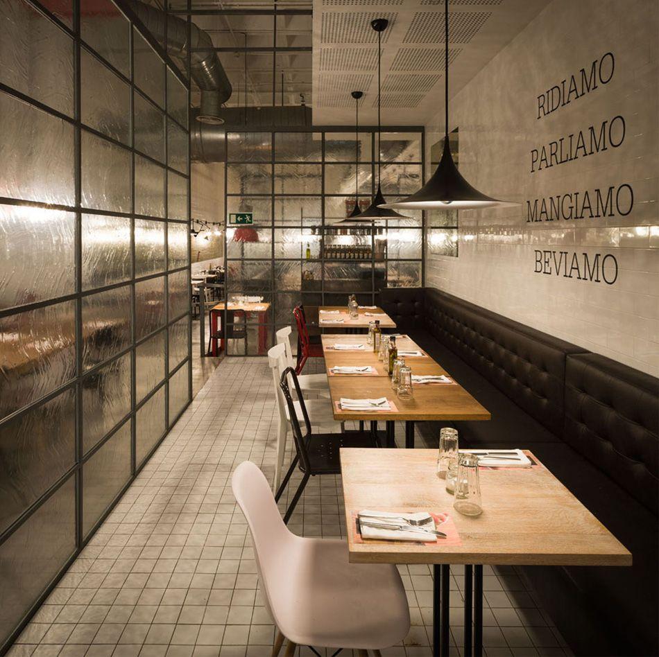 Restaurante Ginos | Espacios interiores | Pinterest | Restaurante ...