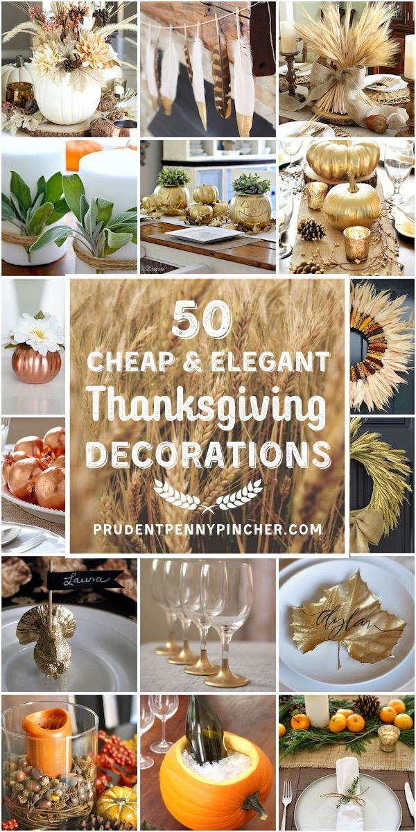 50 Cheap and Elegant Thanksgiving Decorations #thanksgivingdecorations