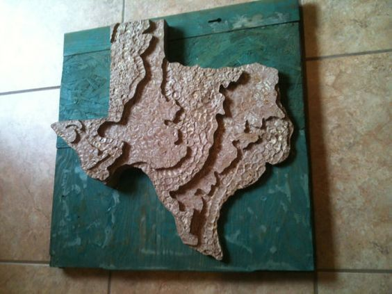 Recycled State Texas Topographical D Map By JeraldBuildsStuff - 3d topographical map of us