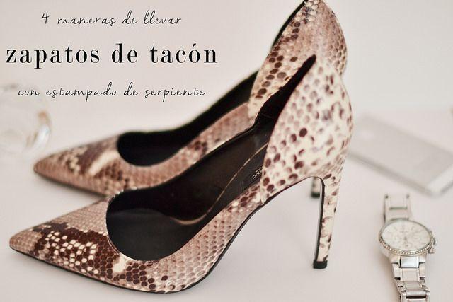 4 maneras de llevar zapatos de tacón con estampado de serpiente : MartaBarcelonaStyle's Blog