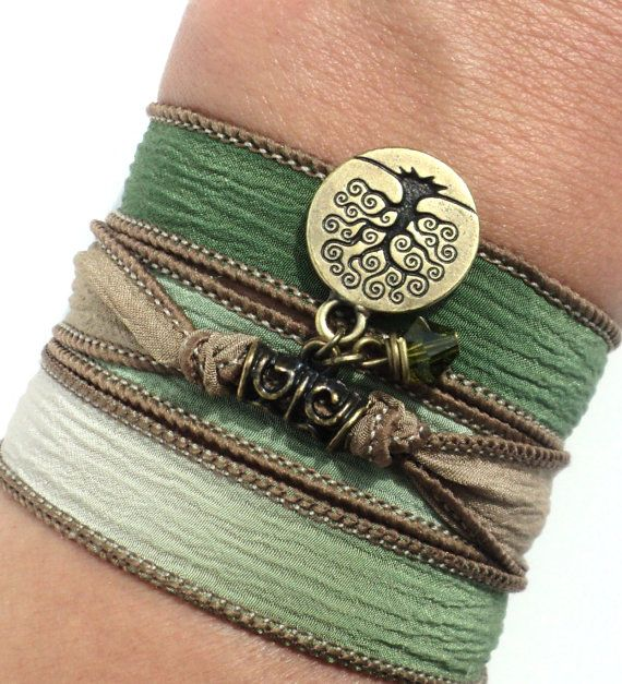 Hey, I found this really awesome Etsy listing at https://www.etsy.com/listing/159750242/tree-of-life-silk-wrap-bracelet-yoga