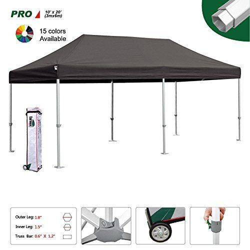 Eurmax Professional 1020 Ez Pop Up Canopy Wedding Party Tent Instant Outdoor Gazebo Aluminum Frame Commercial