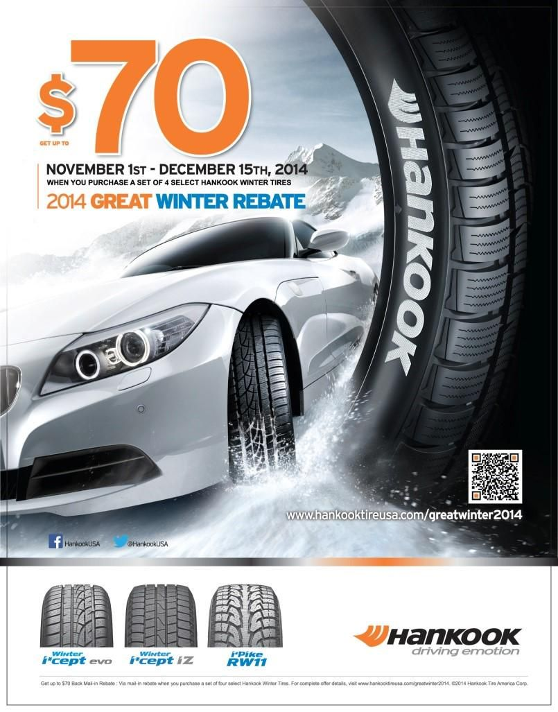 Last Day To Cash In On Hankook S Great Winter Mail In Rebate Save On Winter Tires By Purchasing At Integratire Http Winter Tyres Automotive Industry Tire