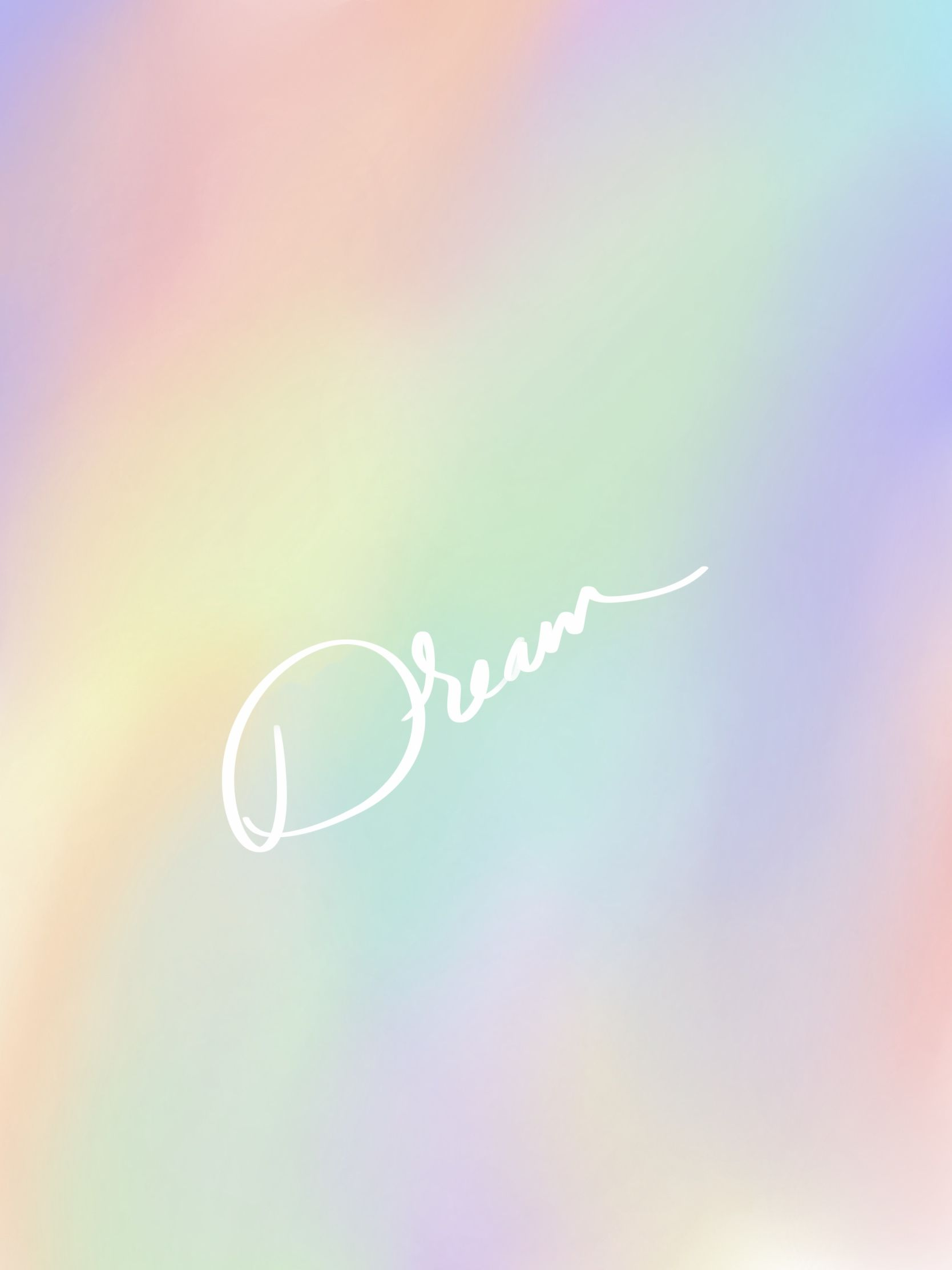 Dream Wallpaper Iphone Wallpaper Rainbow Background White Letters Simple Wallpaper Procreat Iphone Wallpaper Wallpaper Iphone Christmas Rainbow Background