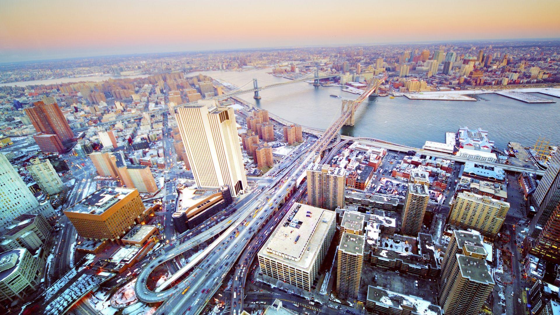 1920x1080 Wallpaper City Top View Panorama Building Metropolis