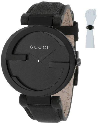 7ef5049c2b9 Gucci Women s YA133302 Interlocking Black Leather Watch by Gucci Price    950.00
