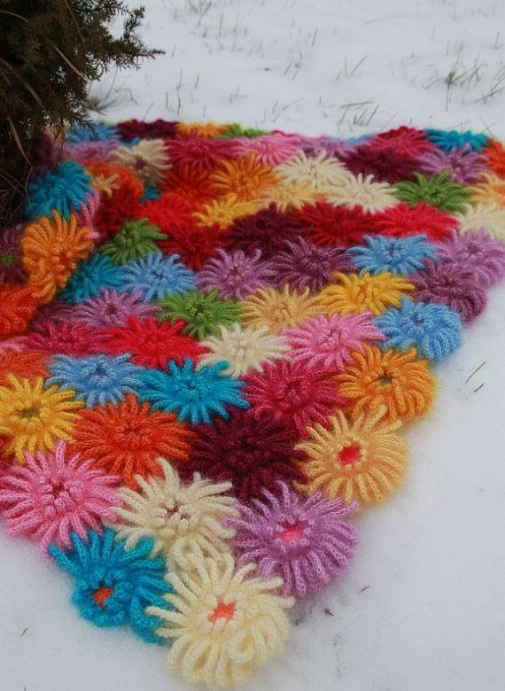 PDF de ganchillo patrones de ganchillo Dalia jardín manta, afgano ...