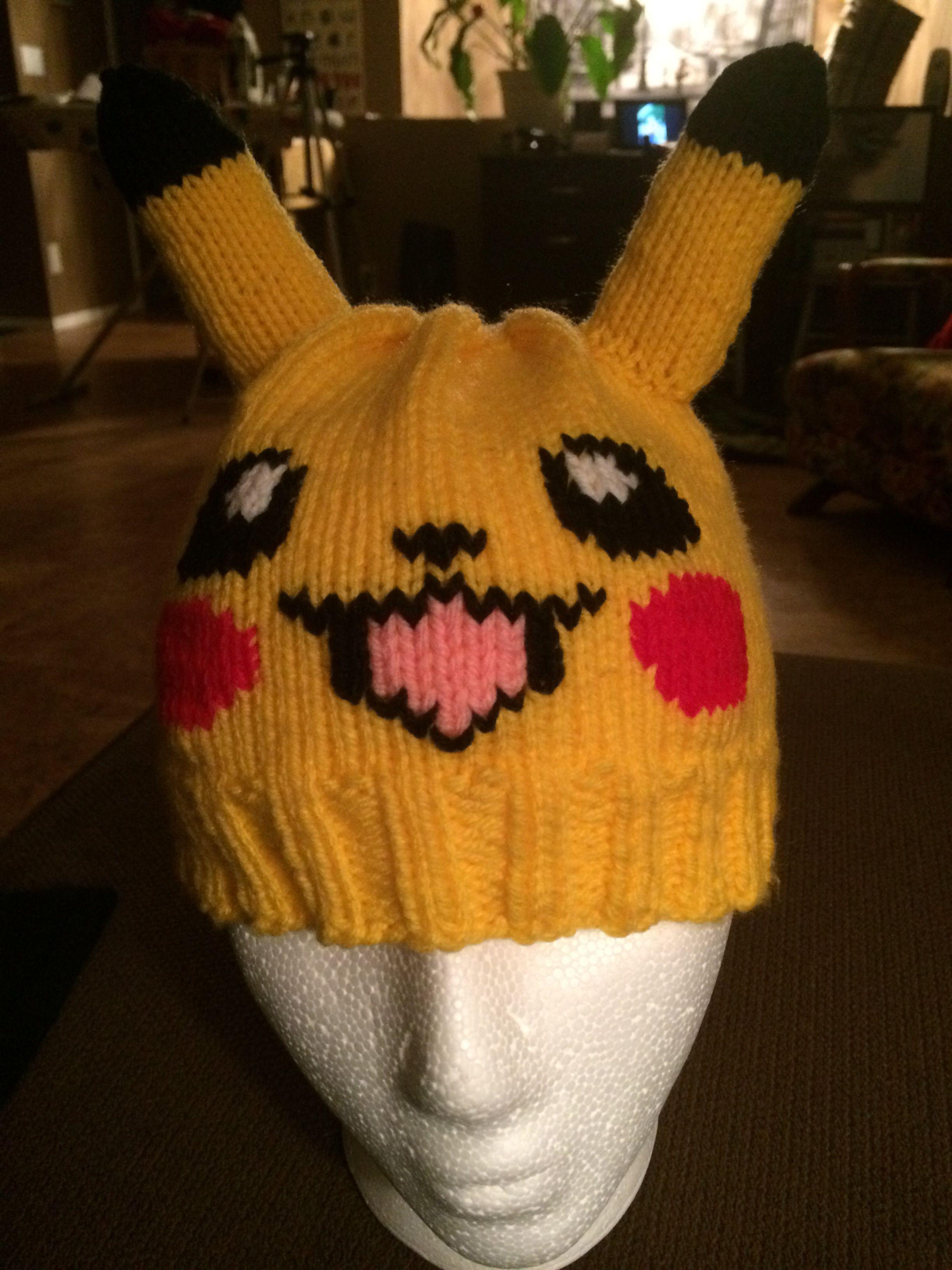 2bcb5fbfd Pin by Karin LaPointe on Pikachu   Knitted hats, Pikachu hat, Knitting
