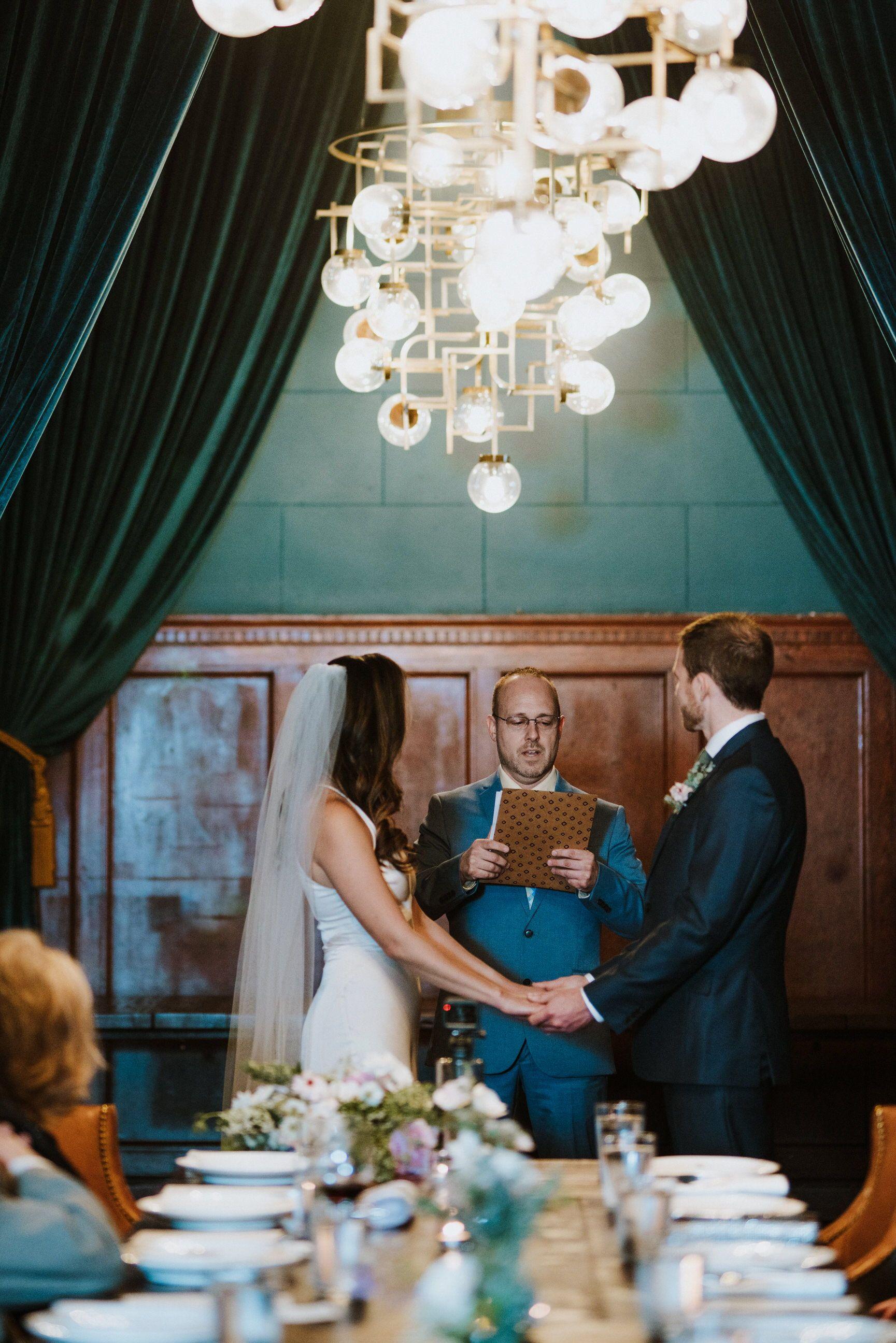 Detroit Foundation Hotel Wedding Small intimate wedding