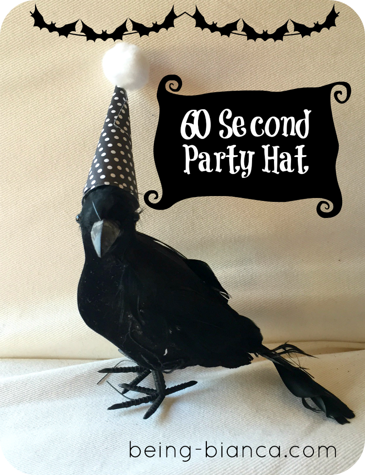 60 second party hat make your halloween crows and pumpkins look a bit more festive - Halloween Crows