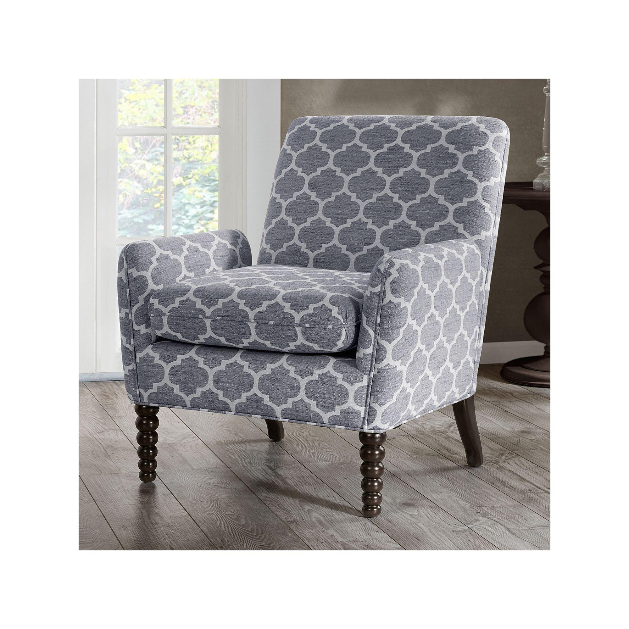 Madison Park Clara Quatrefoil Club Arm Chair Furniture Living