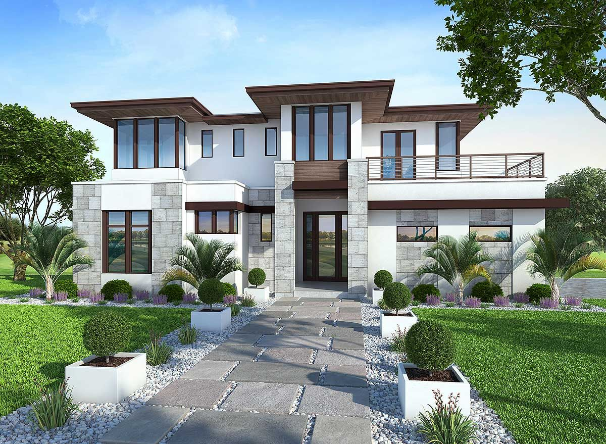 Plan 86033bw spacious upscale contemporary with multiple second floor