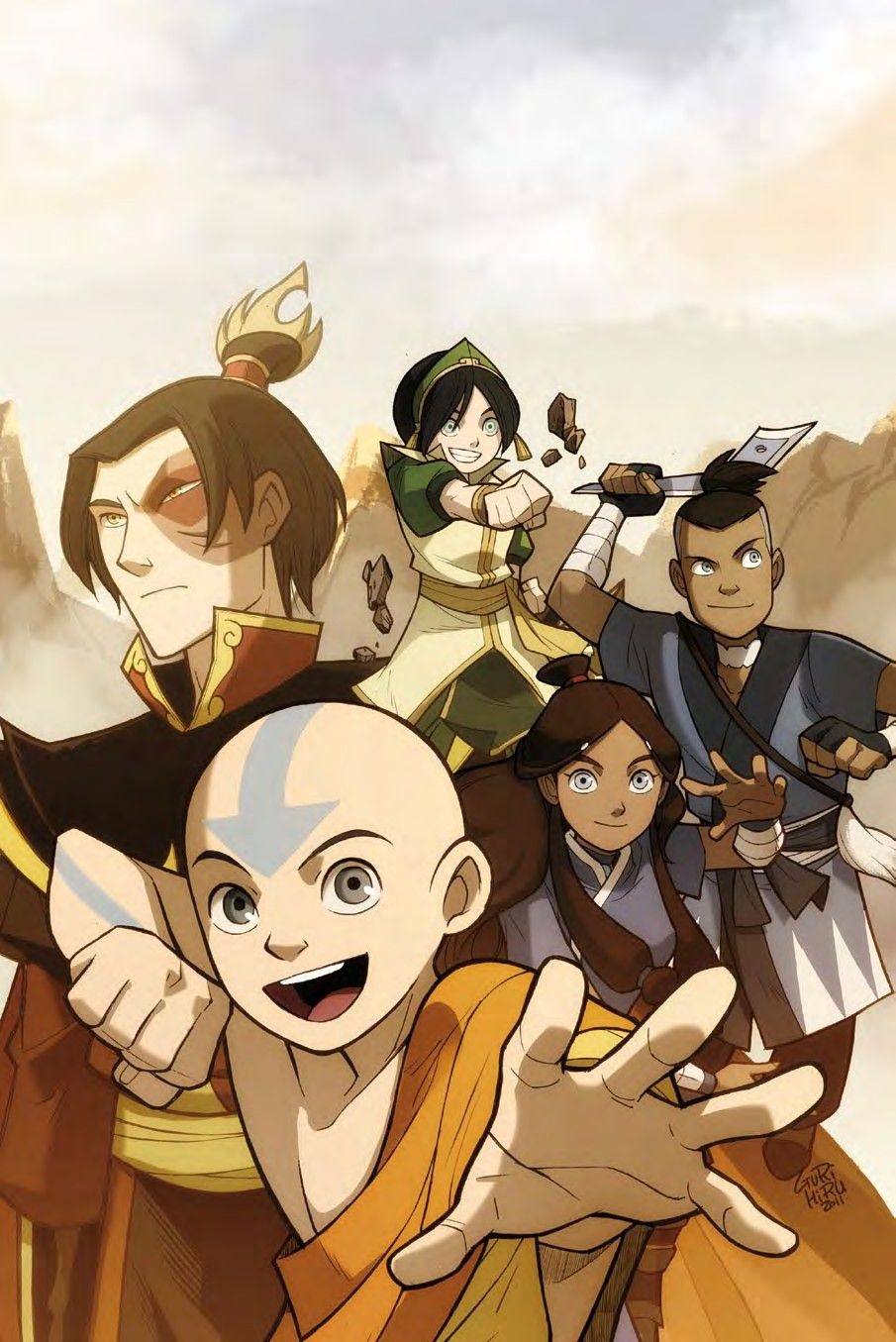 Avatar The Last Airbender The Promise 1 Aang And The Gang Are