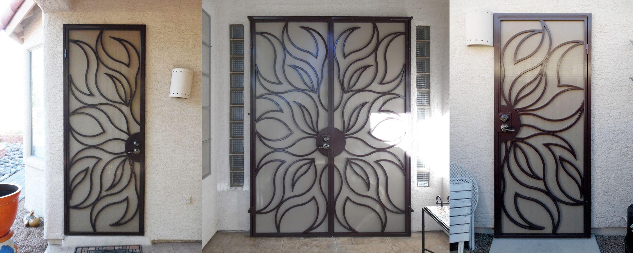metal security screen door. Matching Sunburst Wrought Iron Security Screen Doors Metal Door