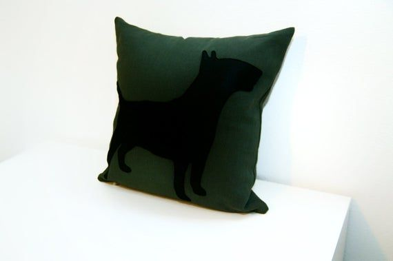 Bull Terrier cushion cover, dog pillow, dorm pillow, house warming, personalized bull pillow