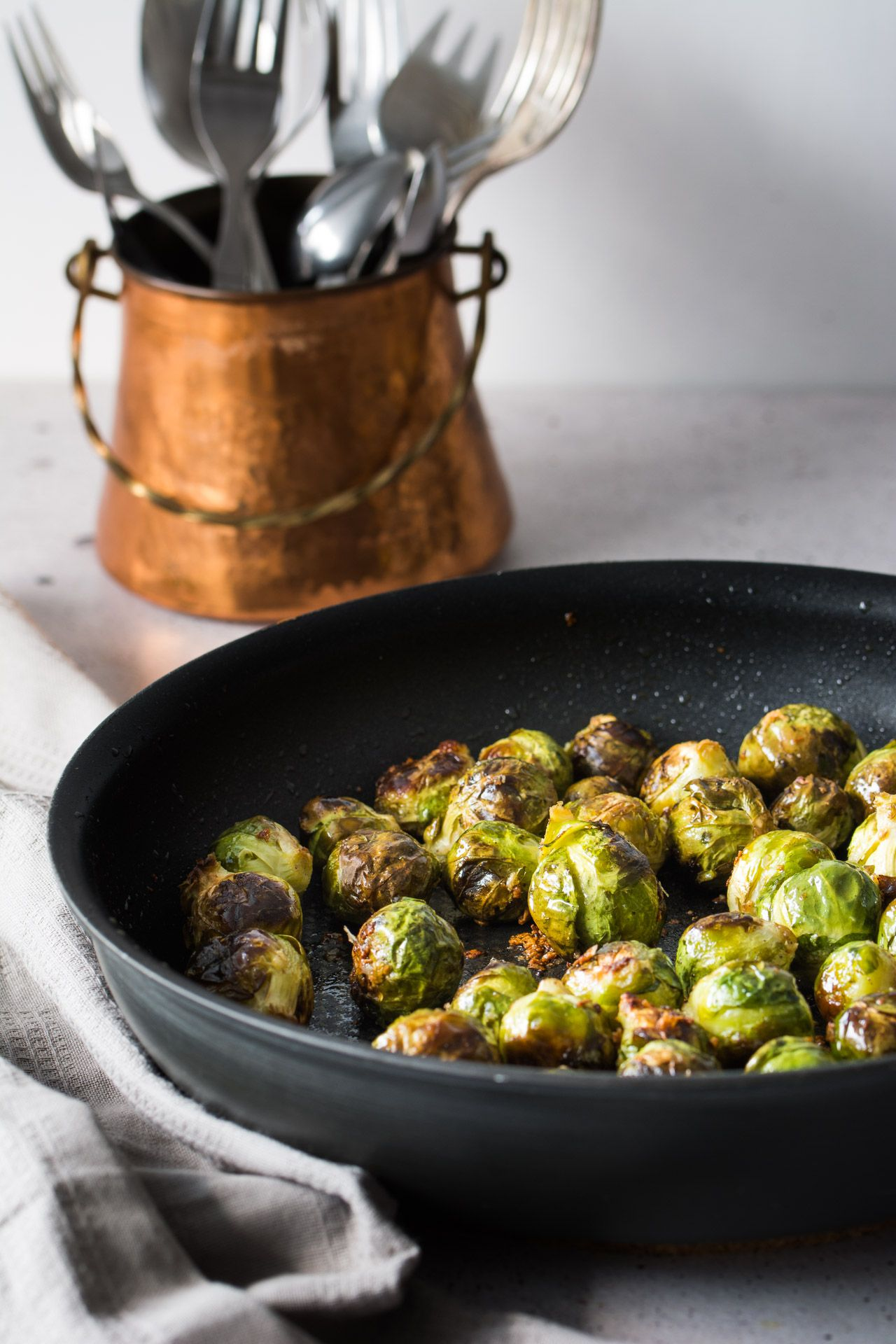 Easy Garlic Roasted Brussels Sprouts Recipe Food