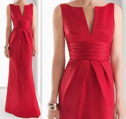 Um vestido de corte elegante. Segue esquema de modelagem do 36 ao 56.