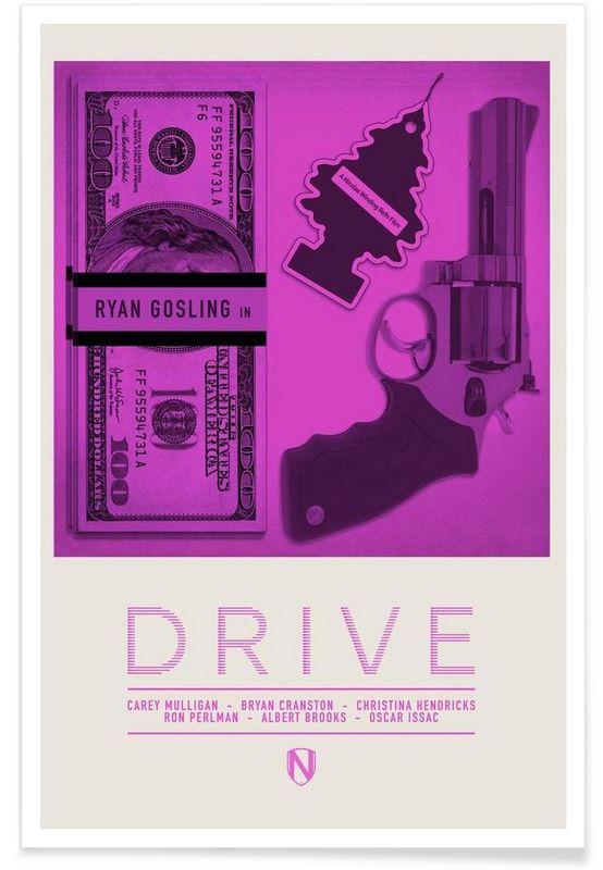Drive als Premium Poster door Needle Design | JUNIQE