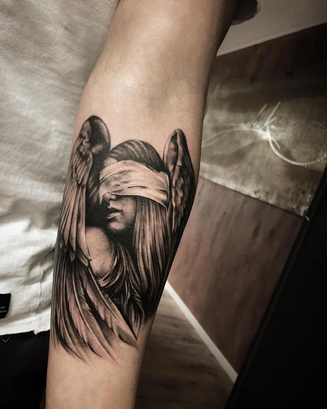 half sleeve tattoo ideas Halfsleevetattoos   Guardian angel ...