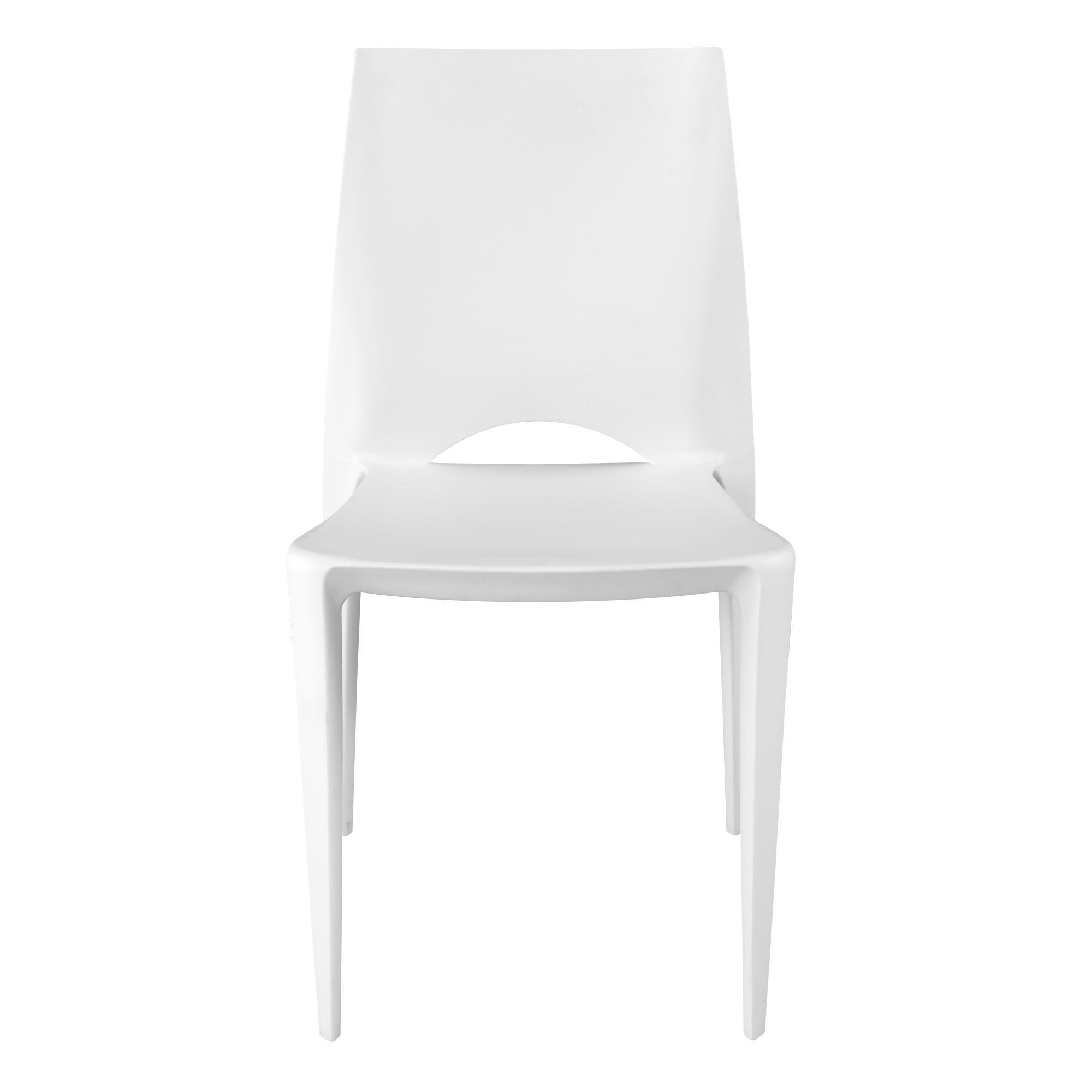 Chaise Moulée Blanche Kiwi Chaise ChaisesTables Et Chaises - Alinea chaises de cuisine pour idees de deco de cuisine