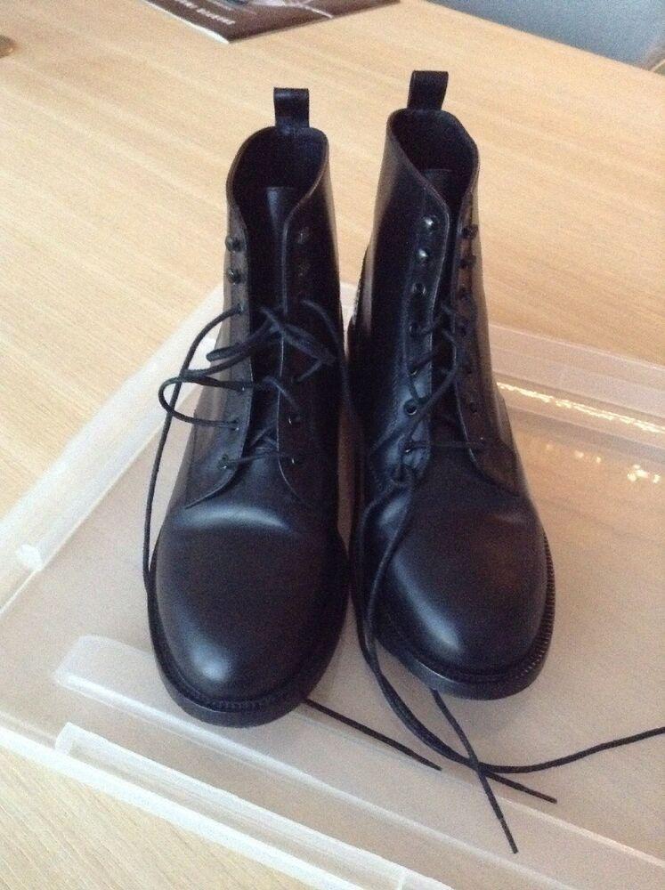 5b96a4632c Saint Laurent YSL Lolita 20 Black Lace Up Combat Booties 38 8 ...