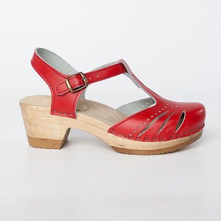 Medium 23 Strap Lacy Clog Sandal T Style137 Sven Heel A4L35jR