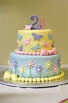 cakes with flowers and butterflies Google Search Party Ideas