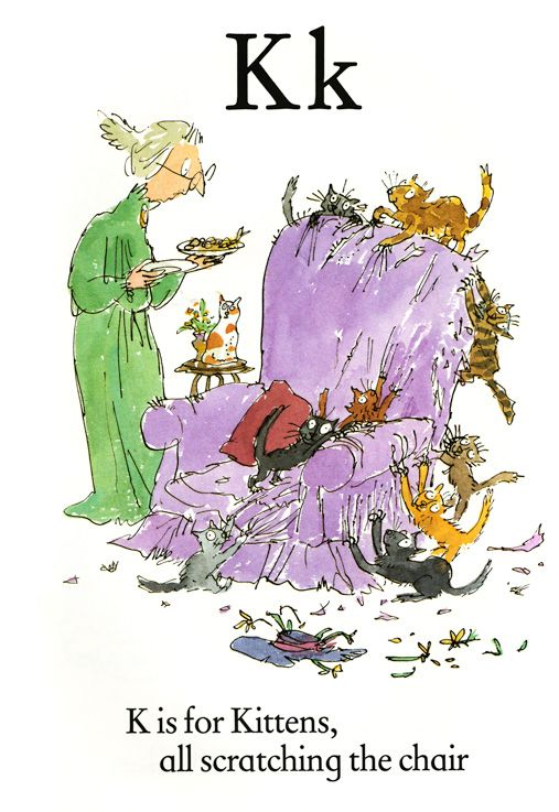 Sir Quentin Blake's Quirky Illustrated Alphabet Book | Brain Pickings. http://www.brainpickings.org/index.php/2014/01/24/quentin-blake-abc-alphabet-book/