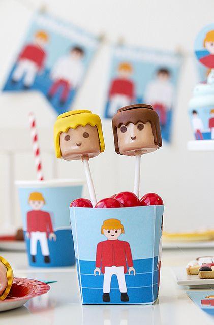 Postreadicci n galletas decoradas cupcakes y pops fiesta - Playmobil samu ...
