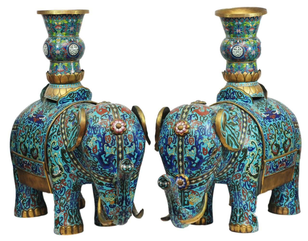 Pair of antique chinese palace sized bronze and enamel cloisonne pair of antique chinese palace sized bronze and enamel cloisonne vases reviewsmspy