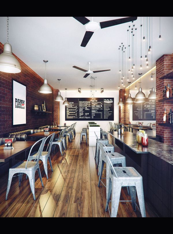 Mini Cafe Architecture Digital Art Interior Design