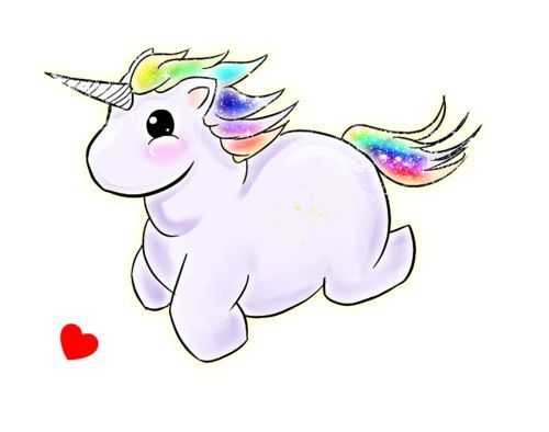 I'm a cute fluffy FAT unicorn!
