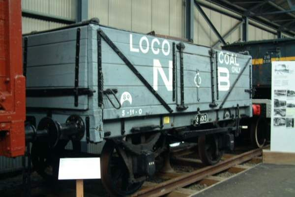 NBR 8-Ton Double-Ended No. 65013 - This wagon was acquired from the Admiralty at Rosyth, and was probably rebuilt there. It has Glasgow & South Western Railway type end tipping doors, but other components are from the North British Railway.