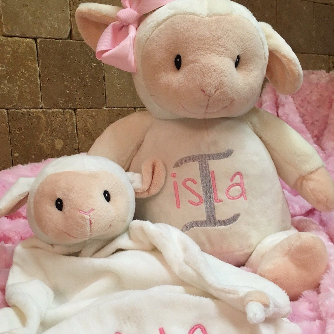 Lambpersonalized baby gift stuffed animal birth announcement lambpersonalized baby gift stuffed animal birth announcement new baby gift baptismal monogrammed embroidered adoption gotcha negle Image collections