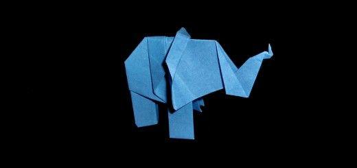 Origami-elefantti