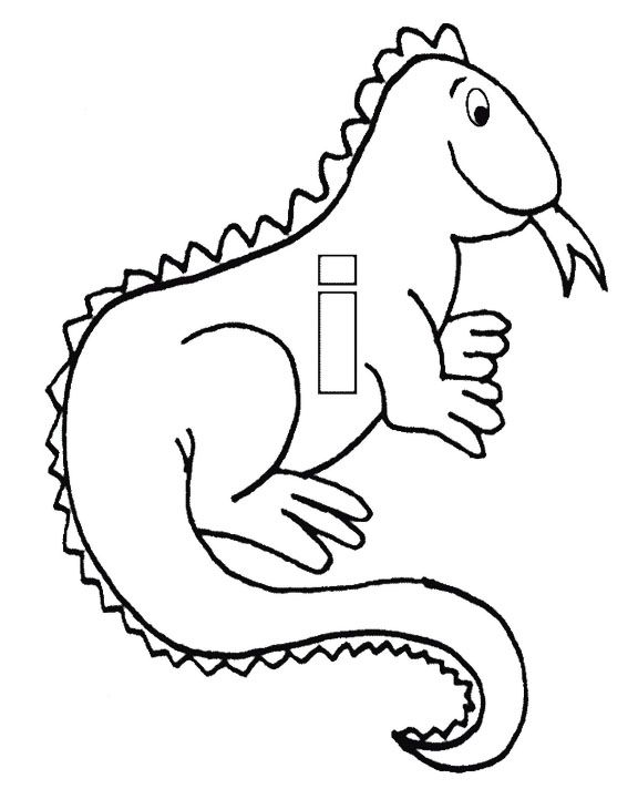 i for iguana coloring pages kids coloring pages