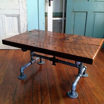 reclaimed barn wood table coffee table galvanized pipe and old brass valve reclaimed barn wood