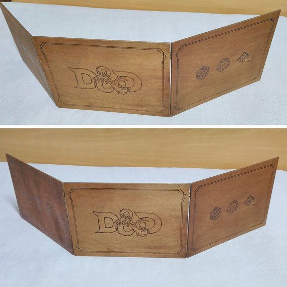 Wooden DM Screen for Tabletop Games (Dungeons and Dragons