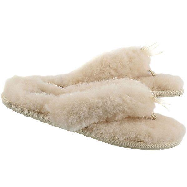 cb296865cc3 Women's FLUFF FLIP FLOP II grey sheepskin thongs (525 CNY) ❤ liked ...