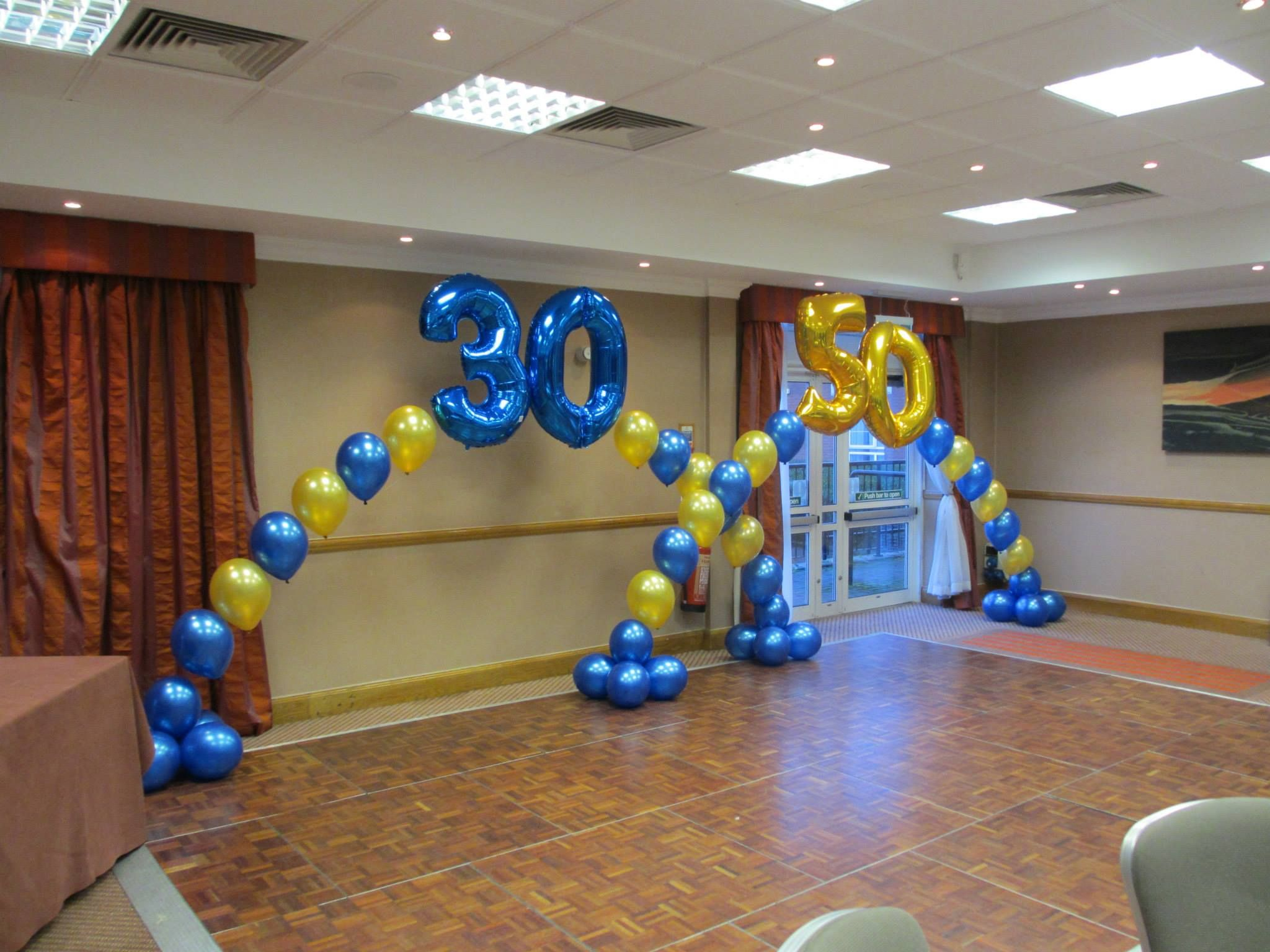 Birthday Balloons Foil Number in an Arch Balloon CRAZY
