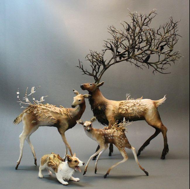 Narabean Beautiful Sculptures By Ellen Jewett Sculpture - Surreal animal plant sculptures ellen jewett