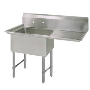 Bk Resources Bks 1 1620 12 18rs 16 X20 X12 One Compartment Sink S