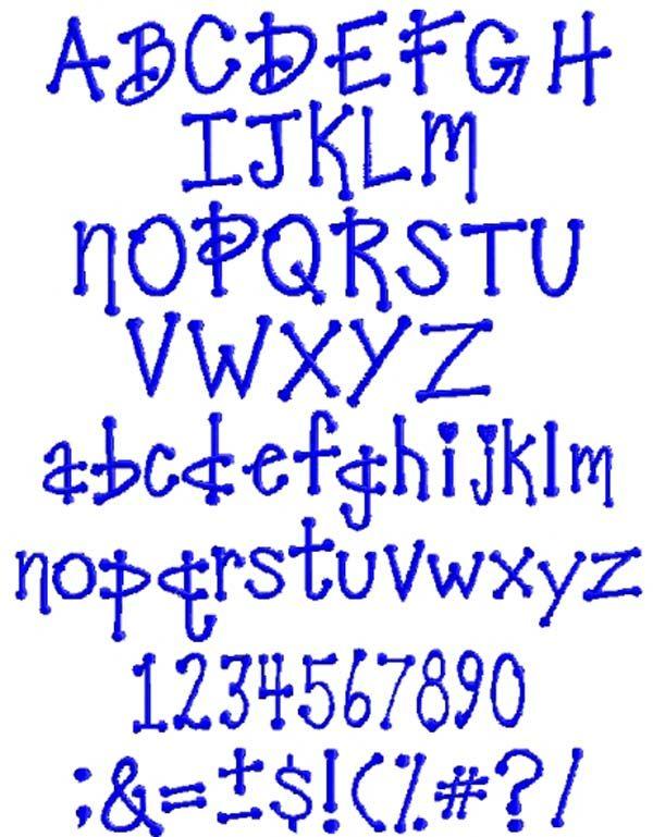 Bubble Tip Font