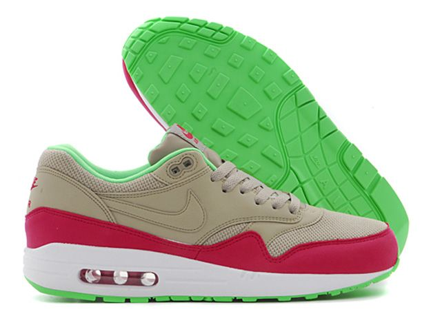 7a824a5226 ... Nike Air Max 1- Bamboo, Fuchsia Force, and Poison Green | Shoes | Nike  Air Max Light ...