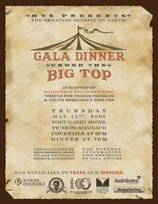 Gala Dinner Under The Big Top
