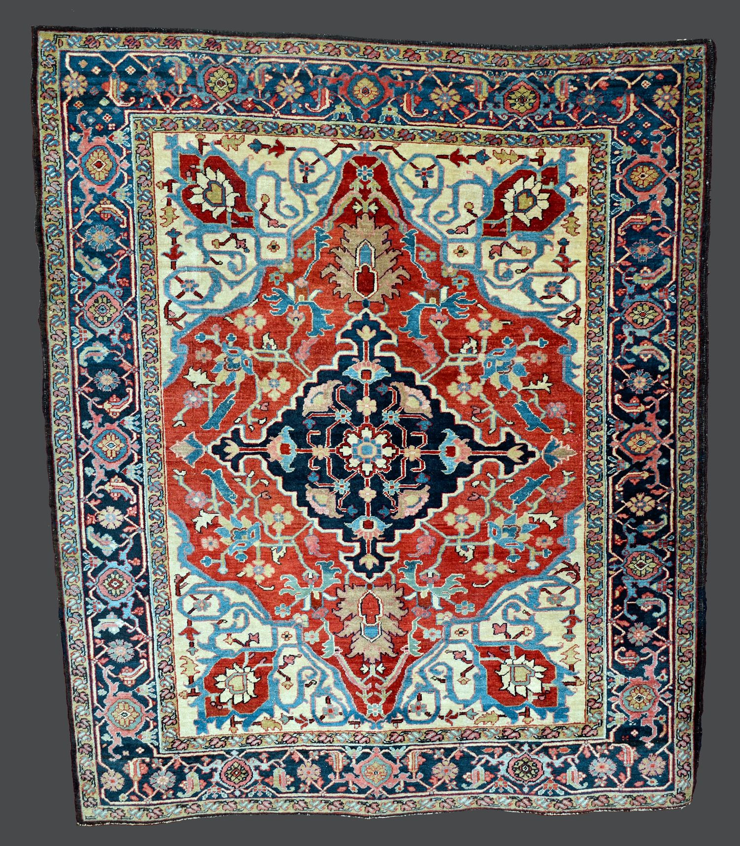 Small Antique Heriz Serapi Rug