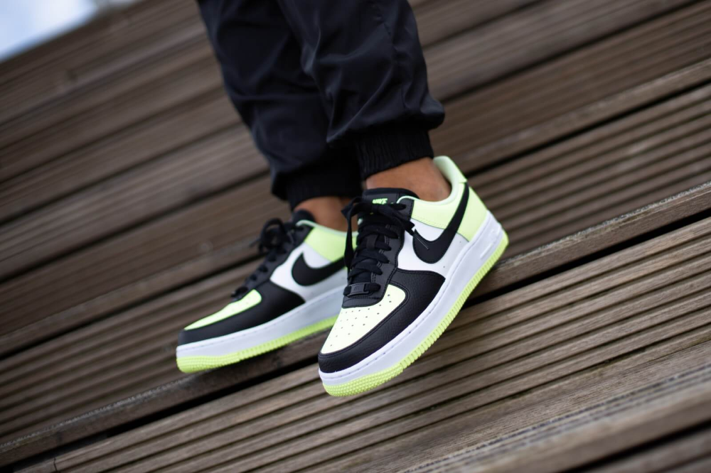 Nike Women's Air Force 1 '07 Barely Volt/White-Black ...